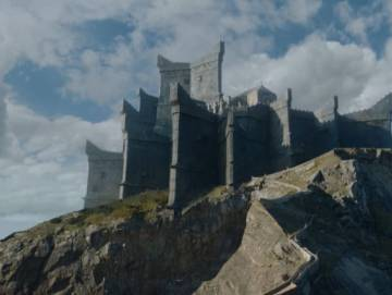 Dragonstone in the 'Game of Thrones' series.