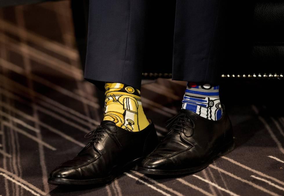 Los calcetines de La Guerra de las Galaxias de Justin Trudeau, primer ministro de Canadá.