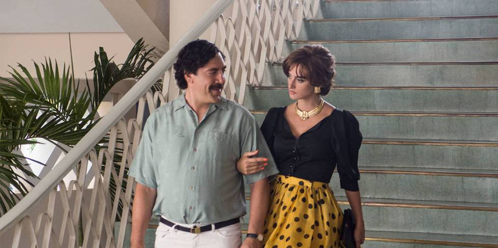 Javier Bardem and Penélope Cruz in a scene from 'Loving Pablo.'