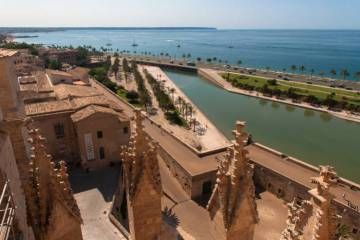 View from the Cathedral of Palma de Mallorca