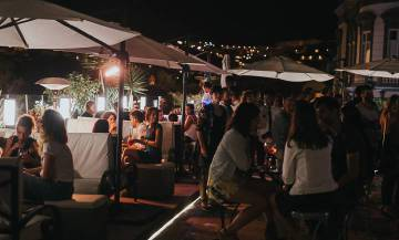 Benito Rooftop Bar at night