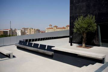 Rooftop at the CaixaForum building in Zaragoza