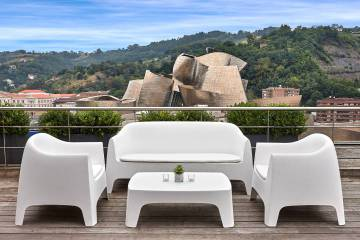 Terrace of the Gran Hotel Domine in Bilbao