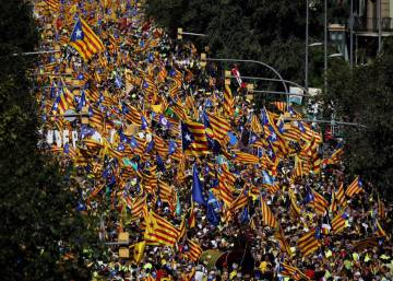 With referendum looming, thousands take to streets for Catalan National Day