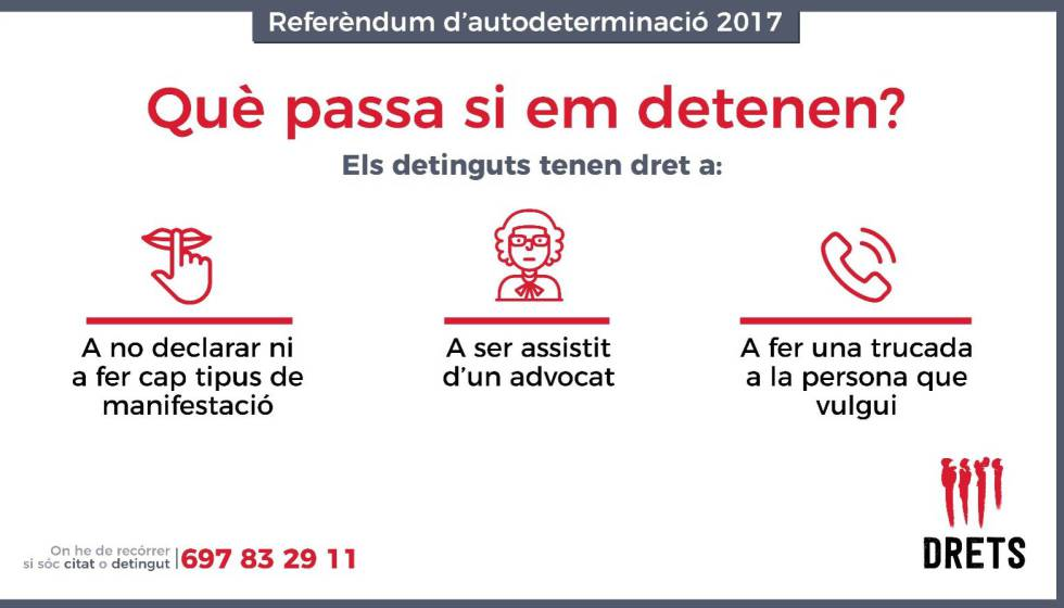 Instructions issued by a legal group on what to do in the event of an arrest over the referendum.