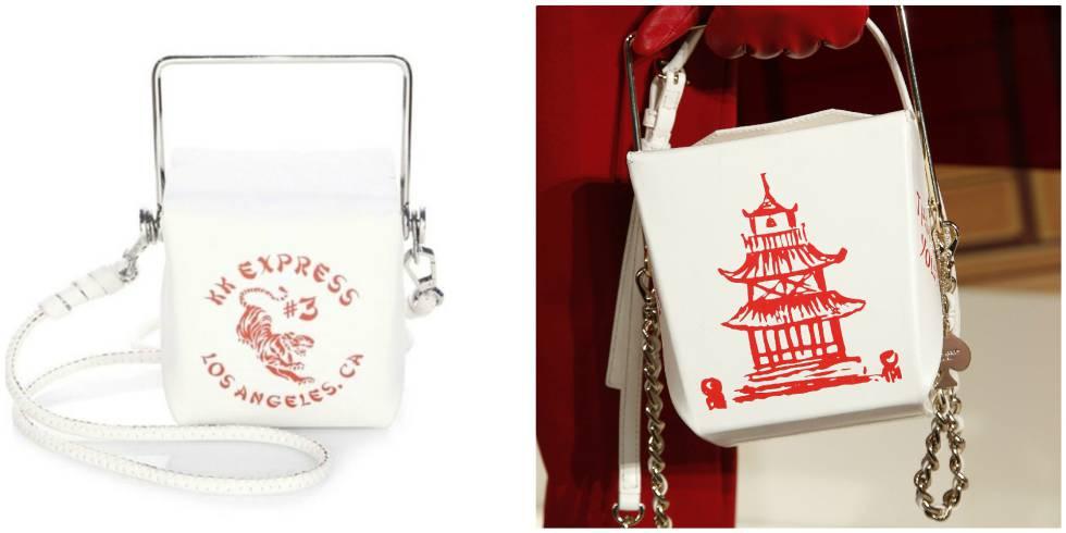 El bolso de la marca Kendall + Kylie y, a la derecha, el accesorio diseñado por Deborah Lloyd para la marca Kate Spade. L'ESTROP
