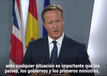 Cameron warns Catalonia that independence means leaving EU