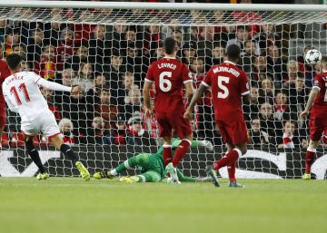 Spain's Sevilla hold their own against a mercurial Liverpool at Anfield