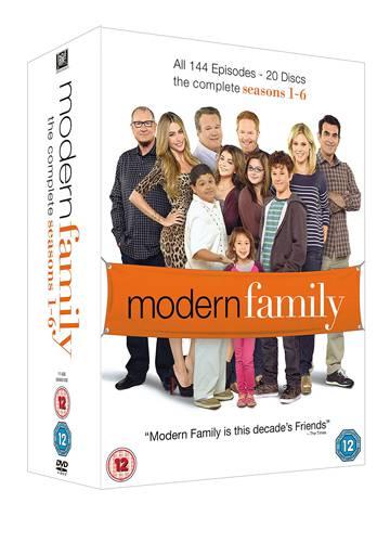 Las seis primeras temporadas de 'Modern family' en inglés en formato DVD.