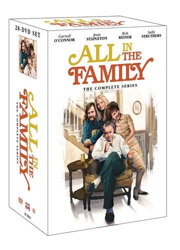 Pack de 28 DVDs con todos los episodios en inglés de 'Todo en familia'.