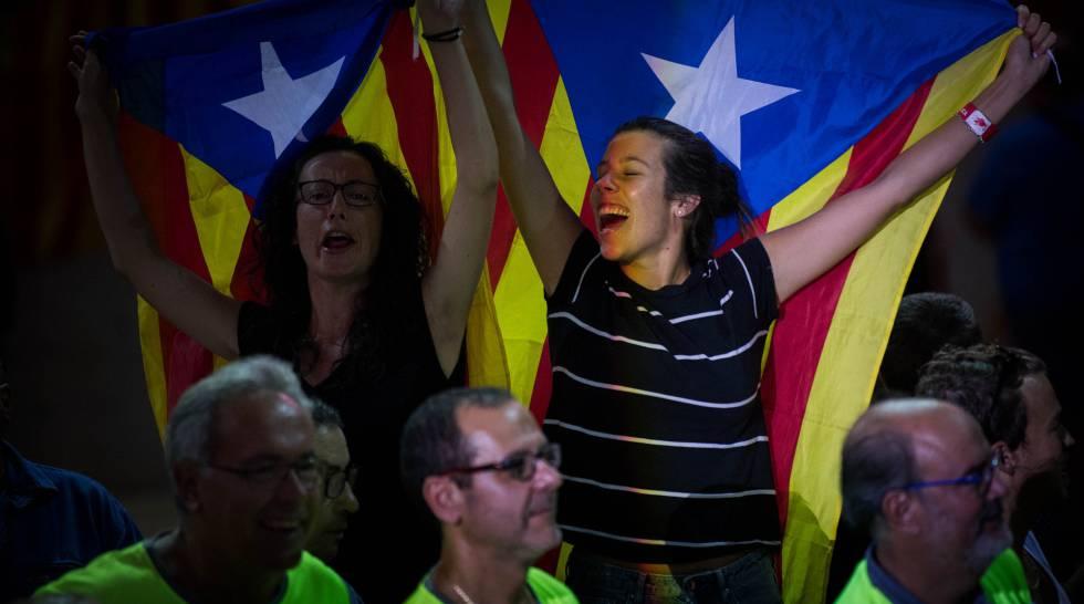 Acto a favor de la indepencia en Tarragona. rn
