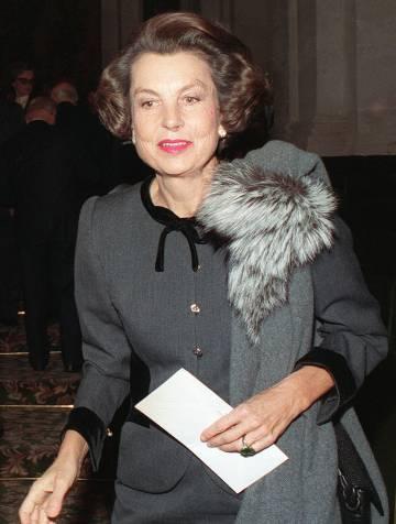 Liliane Bettencourt, en noviembre de 1988 en un desfile en París.