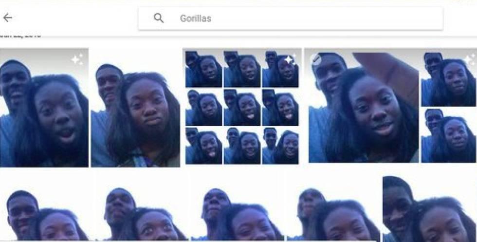 Un algoritmo de Google Foto etiquetó a negros como gorilas en 2015.
