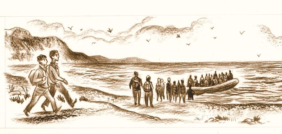 Ilustración para el documental 'J'ai marché jusq'a vous'.