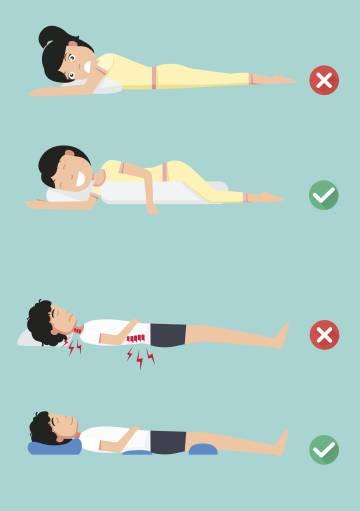como aliviar el dolor de espalda por dormir mal