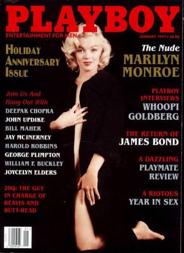 Marilyn Monroe, en su sensual portada de 'Playboy' de 1994.