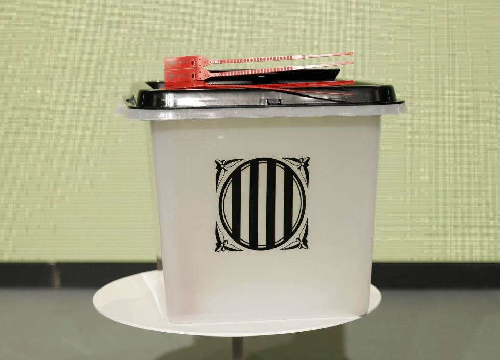 The plastic containers that the Catalan regional government plans to use as ballot boxes on Sunday.