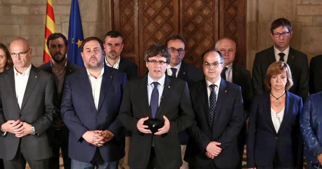Declaración de Puigdemont tras la votación.