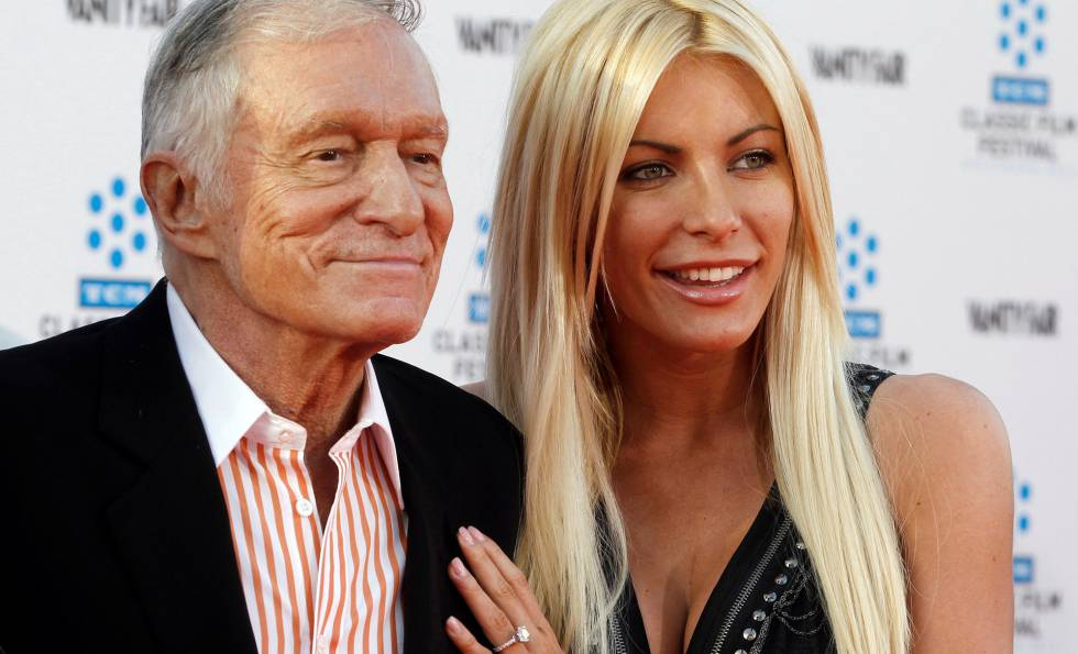 May tied And Crystal Hefner Hugh length existence when