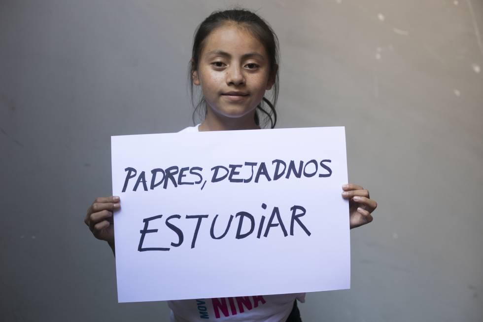 Naydelin, 13 años, de Guatemala.