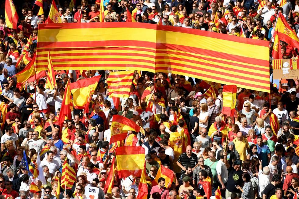 Manifestación del 8 de octubre en Barcelona.