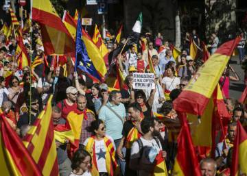 Massive march in Barcelona in favor of the Constitution and the unity of Spain