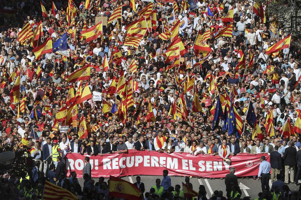 Pro Spain demonstration in Catalonia on Sunday.
