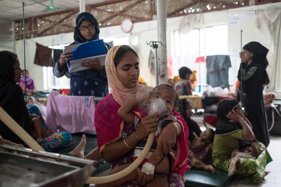 La clínica de MSF en Kutupalong.