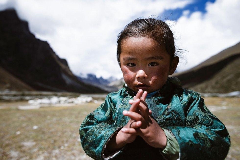 Una niña en Pheriche, Nepal, el 30 de septiembre.