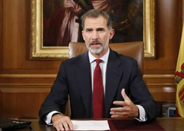 King Felipe VI makes rare address to the nation as Catalan crisis deepens