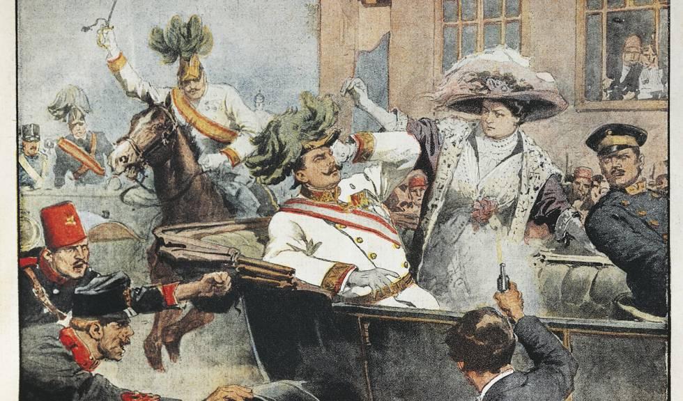Sarajevo: asesinato del archiduque Franz Ferdinand, heredero del trono austríaco, y su esposa.