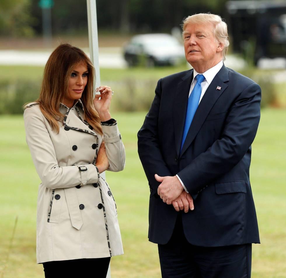 Melania Trump y Donald Trump.