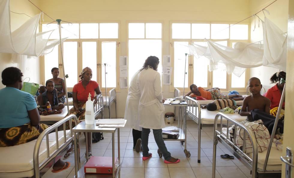 Hospital de Manhiça, en Mozambique, centro de referencia en el estudio de la malaria y su erradicación.