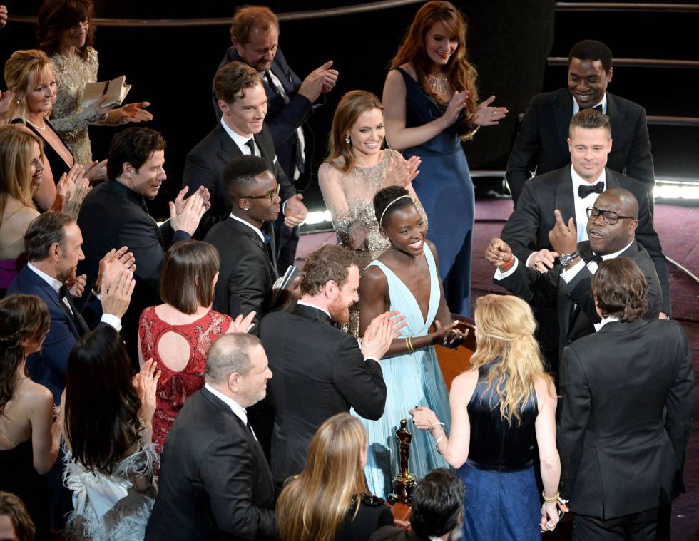 Lupita Nyong'o, el día en que ganó el Oscar.
