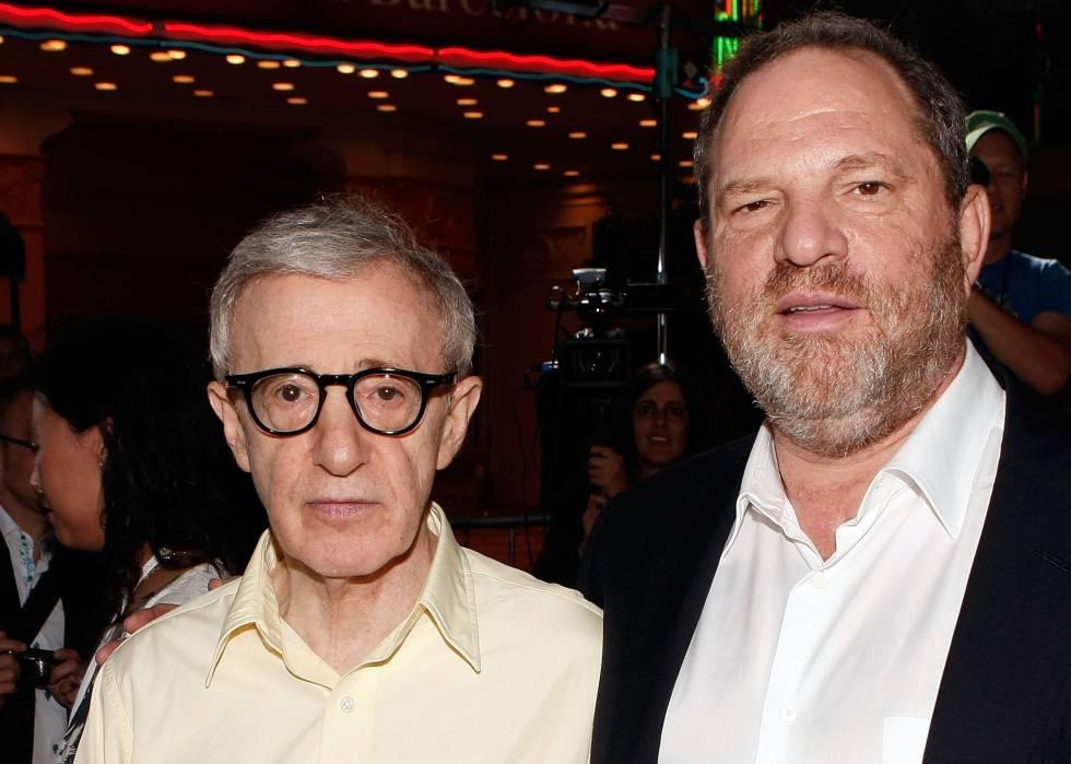 Woody Allen con Harvey Weinstein.