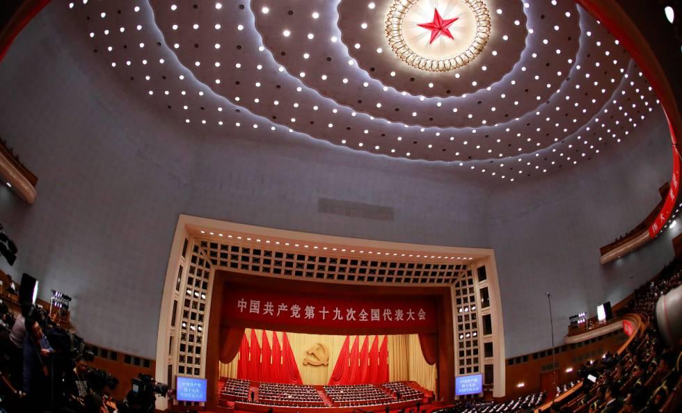 Visão geral da cerimônia de abertura do 19º Congresso Nacional do Partido Comunista da China no Grande Salão do Povo em Pequim, em 18 de outubro.