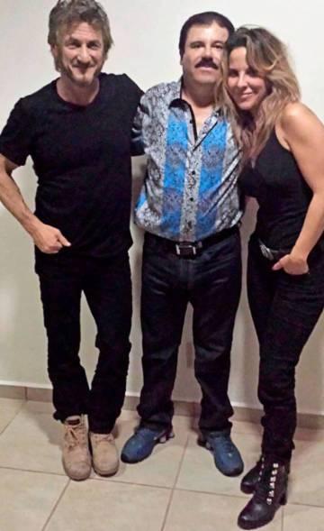 Sean Penn, el Chapo y Kate del Castillo en octubre de 2015.