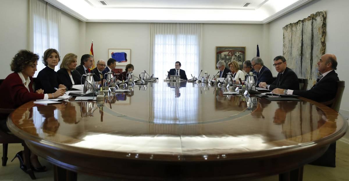 El Consejo de Ministros reunido este sábado.