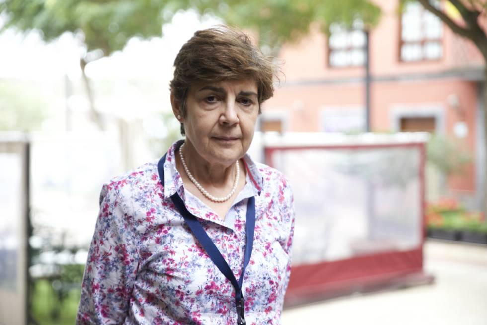 La física Pilar López Sancho, tras su charla en La Laguna.
