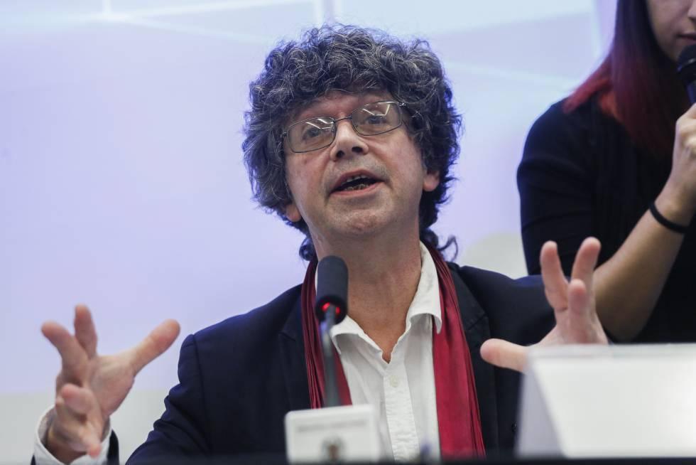 François Hammer, investigador principal de Mosaic, en la presentación del espectrógrafo en Madrid.