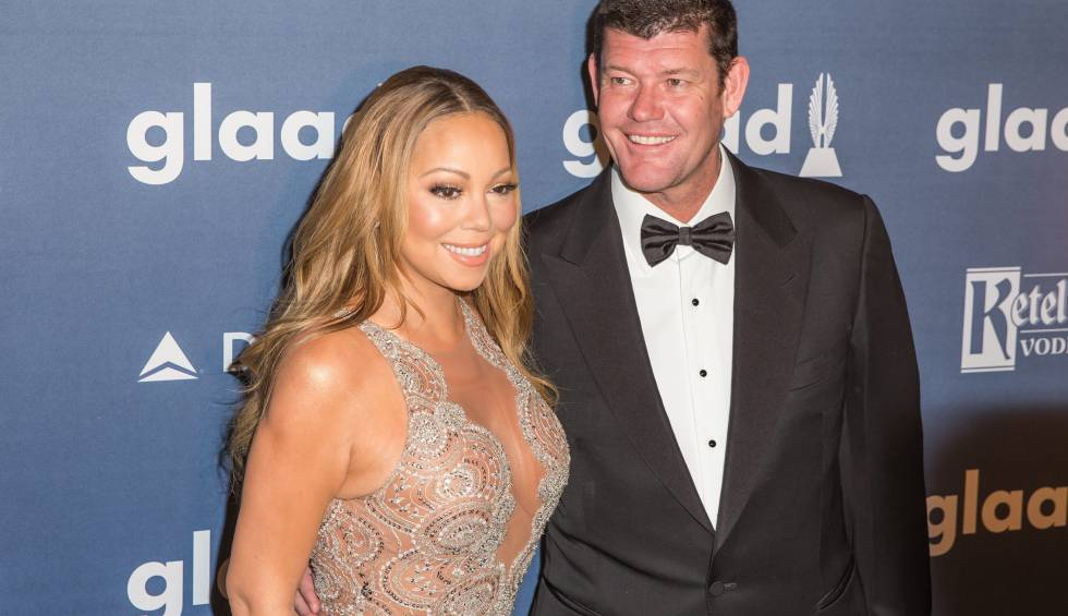 Mariah Carey y James Packer, en Nueva York en 2016.