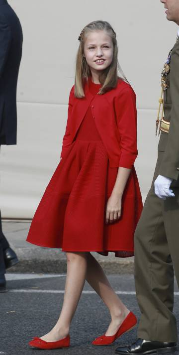 La Princesa de Asturias, en la Fiesta del 12 Octubre.