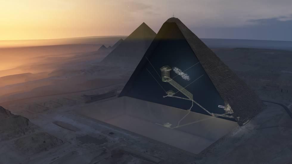 Cientistas encontram câmara vazia dentro da maior pirâmide do Egito