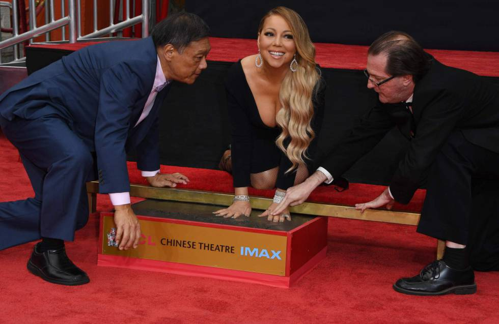 Mariah Carey durante la ceremonia en el TCL Chinese Theatre in Hollywood.