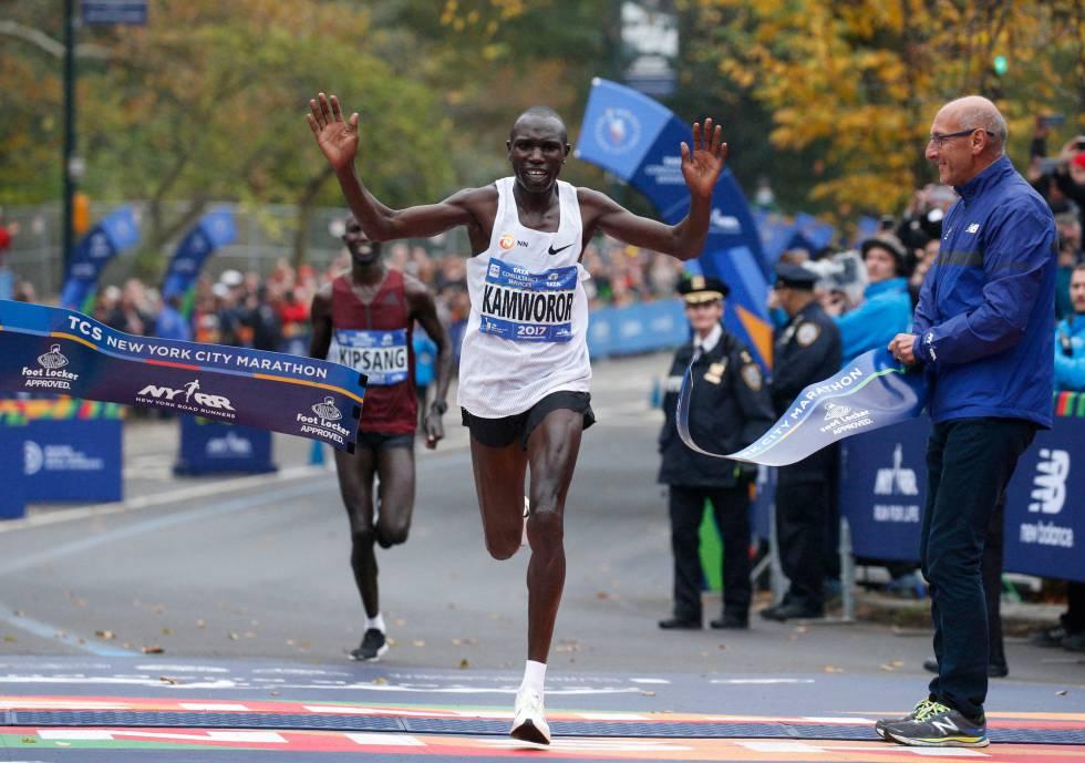 El keniano Geoffrey Kamworor se consagra como el mejor de la maratón de Nueva York.
