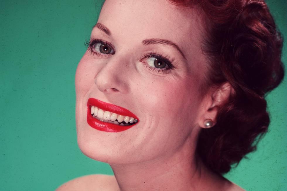 """Ls actriz Maureen O'Hara, conocida en los cincuenta como """"La reina del Technicolor"""", en una imagen promocional."""