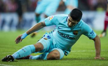 Luis Suárez in the Athletic–Barça game on October 28.