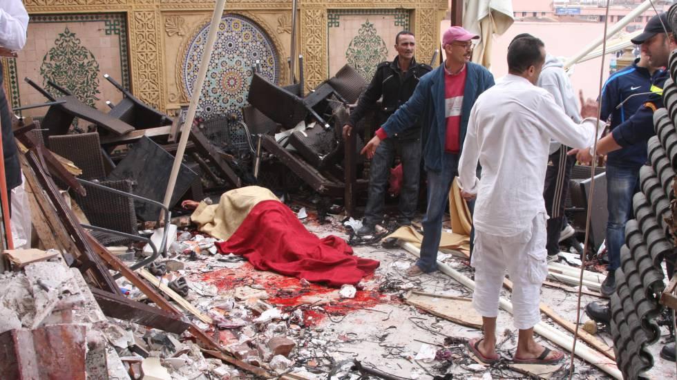 En 2011 fallecieron 17 personas en un atentado con bomba en un café de Marrakech.