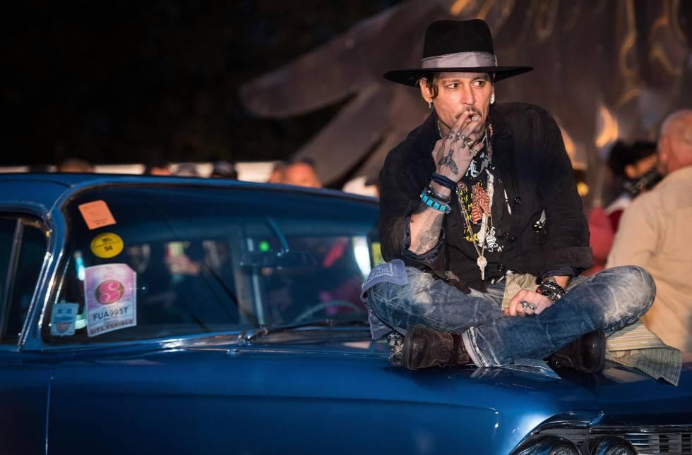 Johnny Depp en el festival de Glastonbury el pasado mes de junio