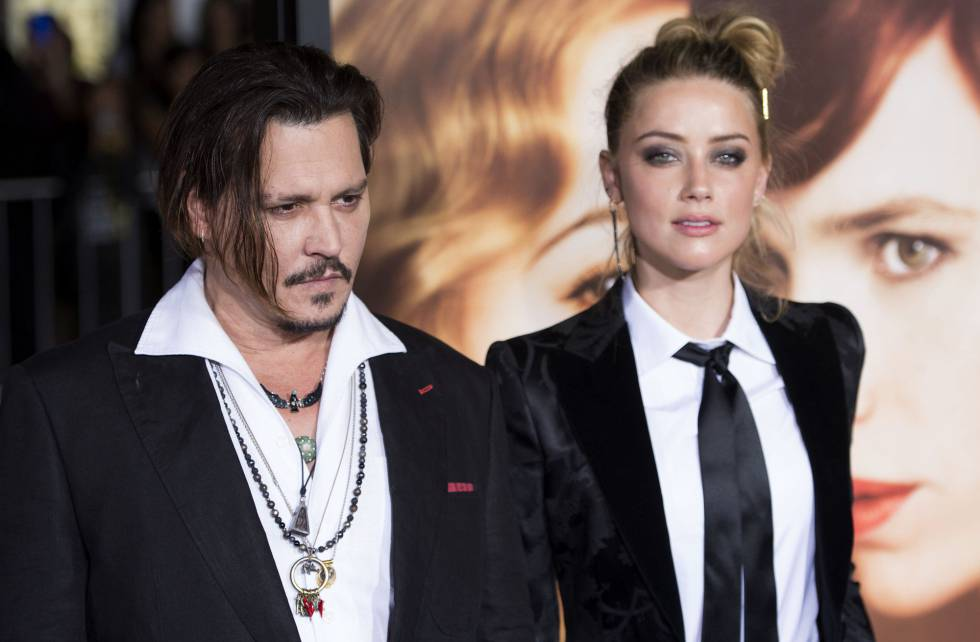 Johnny Depp y Amber Heard en el estreno de La chica danesa en 2015, en Los Ángeles.
